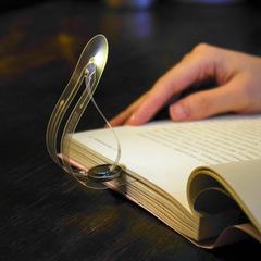 Mini Book Light Ultra Bright Bookmark Night Lamp Flexible Creative LED Book Reading Light white 15.2cm*3.5cm*0.1cm 0.1w