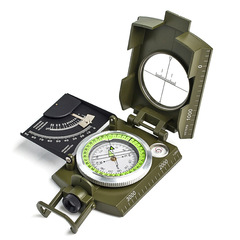 outdoor travel Precision compass Scale Level Slope meter Luminous compass green one size