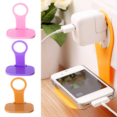 Charging Phone Holder Hanging Stand Bracket Support Charge Hanger Samsung Folding Wall Charger Rack random color one size