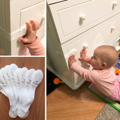 Child Cabinet locking Plastic Lock Protection of Children Locking From Doors Drawers white one size