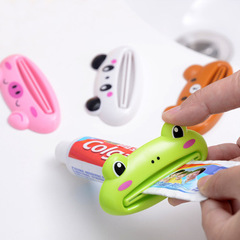 Toothpaste dispenser Cute Tube Rolling Holder Squeezer Easy Use Press Squeezing Tool random color one size