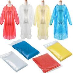 Waterproof Raincoat Hood Poncho Travel Camping Must Rain Coat Unisex Transparent Raincoat random color one size