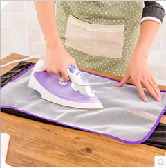 Protection pad Special non-slip anti-hot ironing mat  Cloth Cover Against Home Pad Ironing random color one size