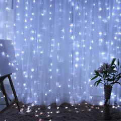 LED lights Decoration Curtain String Lights LED Fairy Lights Living Home Festival LED light white width 3X high 3 0.5w