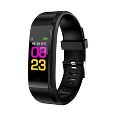 115plus Bluetooth Smart Wristband Color Screen IP67 Waterproof Smart Watch black one size