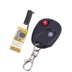 Wireless Switch Remote Control Adjustable Micro Receiver Power LED Lamp Controller Momentary Toggle black