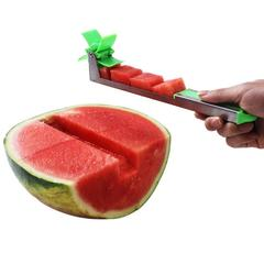 Watermelon Windmill Slicer Melon Cutting Tool Melon Cube Cutter Knife Fruit Tools green one size