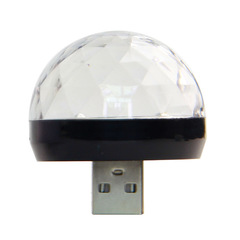 USB led Party Lights Portable Crystal Magic Ball Home Party Karaoke Colorful Stage LED Disco Light black usb 0.5w