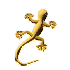 Gecko 3D Car Auto Motorcycle Emblem Badge Car Styling Stickers Automobiles Car-Styling GOLD one size