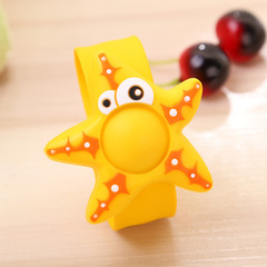 Kids Summer Anti Mosquito Bracelet Silicone Plant Essential Oil Lovely Cartoon Animals Hand Ring yellow one size