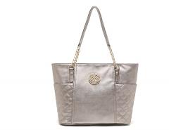 Fancy Ladies Chain Handbag Shoulder Bag Pink gold Pink gold one size