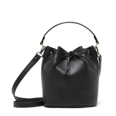Classic fashion belt drawer Bucket bag Hand bag Crossbody bag black one size