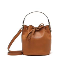 Classic fashion belt drawer Bucket bag Hand bag Crossbody bag tan one size