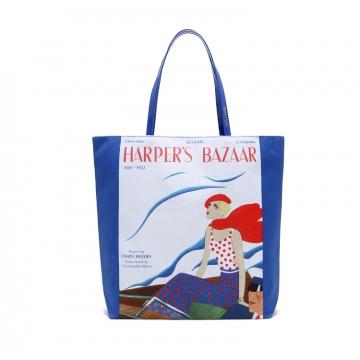 Modern lady Canvas bag Shoulder bag Hand bag Shopping bag Royal Blue one size