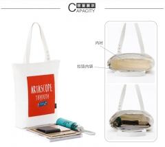 Fresh style Canvas bag Shopping bag Handbag Chic printing patter one size
