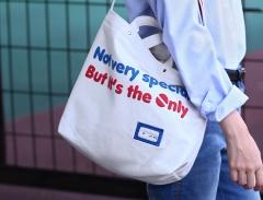 Fresh style Canvas bag Shopping bag Handbag Funny Letter print one size