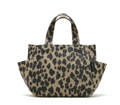 Leopard pattern waterproof Handbag Lunch bag Brown leopard leopard one size