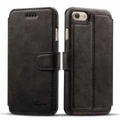Leather Case Cover For iPhone 7 6 6s black iphone7(4.7inch)