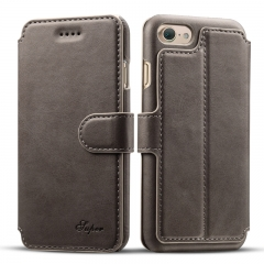 Leather Case Cover For iPhone 7 6 6s Gray iphone6/6s(4.7inch)