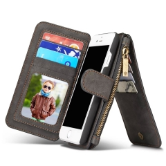 Luxury Wallet Phone Bag Leather Case For iPhone 7 6 6s Plus 5s 5 Samsung Galaxy S7 black iphone7(4.7inch)
