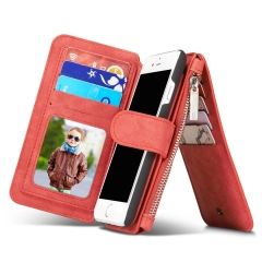 Luxury Wallet Phone Bag Leather Case For iPhone 7 6 6s Plus 5s 5 Samsung Galaxy S7 red iphone7(4.7inch)