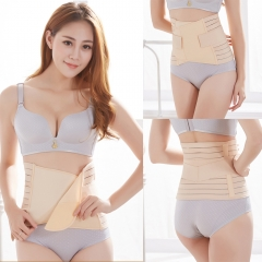 3 in 1 Postpartum Support - Recovery Belly/waist/pelvis Belt Shapewear Beige one size