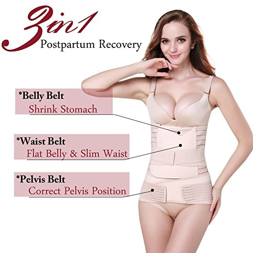 98976892d4eda 3 in 1 Postpartum Support - Recovery Belly waist pelvis Belt Shapewear  Beige one