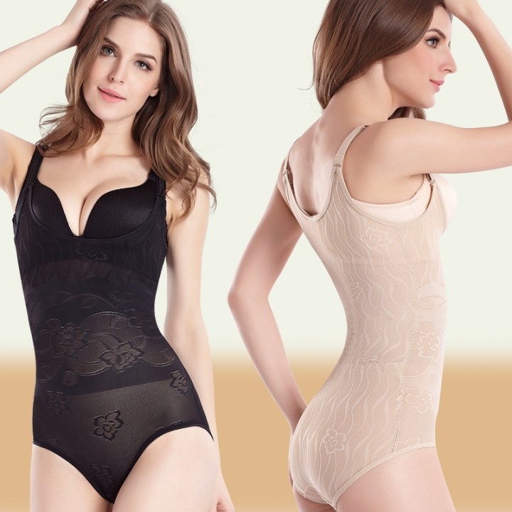 0ac43e7af7623 Women s Lace Bodyshaper Corset Body Briefer Bodysuit Slimming shapewear  black m