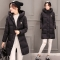 Womens Hooded Warm Winter Faux Fur Lined Parkas Long Coats Black XL
