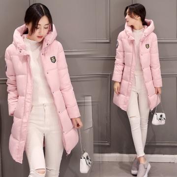 Womens Hooded Warm Winter Faux Fur Lined Parkas Long Coats Pink XXL