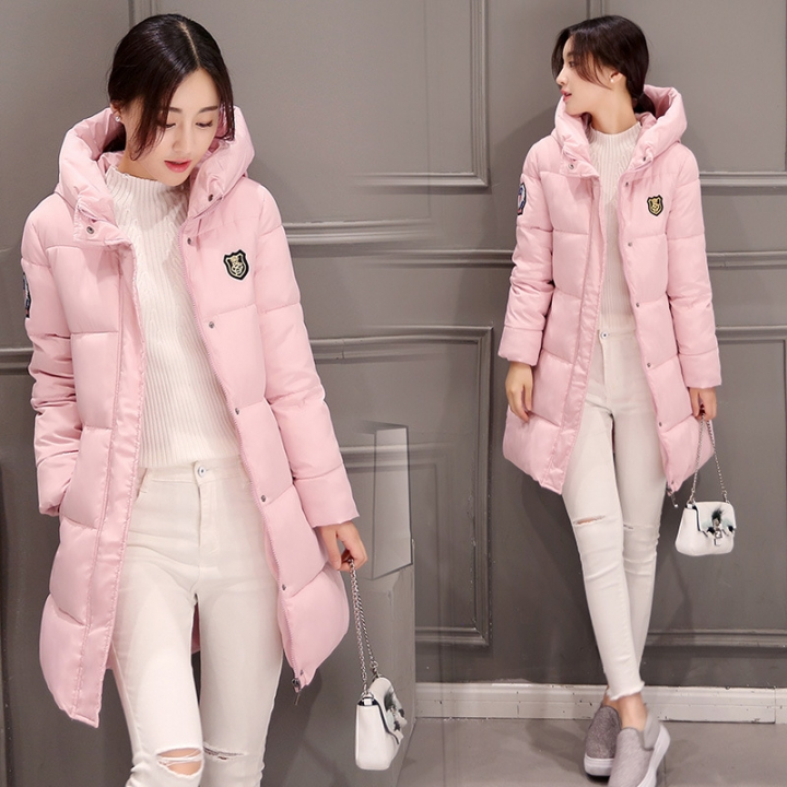 Womens Hooded Warm Winter Faux Fur Lined Parkas Long Coats Pink M