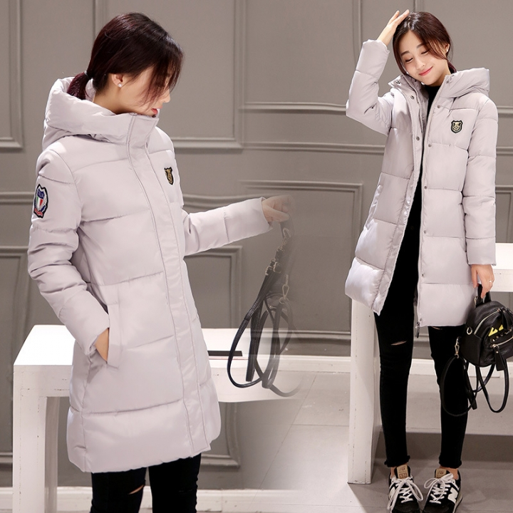 Womens Hooded Warm Winter Faux Fur Lined Parkas Long Coats Light Gray XXL