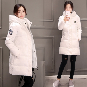 Womens Hooded Warm Winter Faux Fur Lined Parkas Long Coats White 3XL
