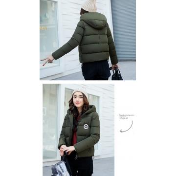 2017 jackets women autumn winter Fashion Casual Basic jacket Cotton coat Short outwear Army green xxl