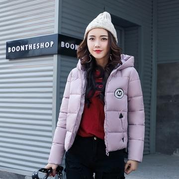 2017 jackets women autumn winter Fashion Casual Basic jacket Cotton coat Short outwear Lotus Pink xxl