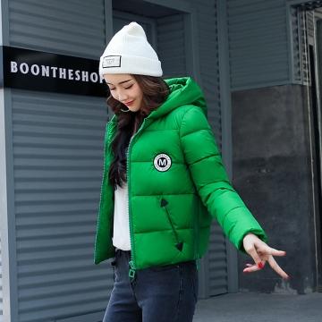2017 jackets women autumn winter Fashion Casual Basic jacket Cotton coat Short outwear green m