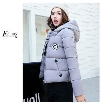 2017 jackets women autumn winter Fashion Casual Basic jacket Cotton coat Short outwear Gray xxl