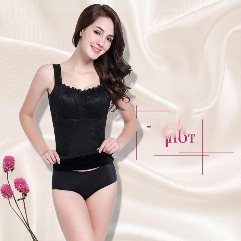 8893e430e0 Women Winter Warm Velvet Ladies Body Shaper Sexy Slimming Tops ...