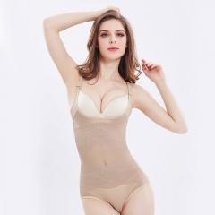 Women Sexy Siamese Corset Postpartum Thin Waist Slimming Bodysuit Shapewear Underwear Body Shapers nude XXL(82-92kg)