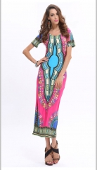African dresses for women Vintage Dashiki Dress Robe Casual African Print Ladies Indian Dresses s