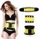 Women's Waist Trainer Body Shaper Workout Waist Cincher Belt Sport Trimmer Girdle Shaperwear yellow xxl