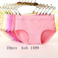10 PackWomens  Underwear  middle Waist Briefs Ladies Comfort Stretch Panties Underpants 8 Colors 10 pack 8 colors m