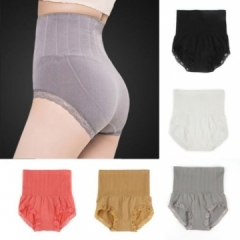 Women Body Shaper Seamless High Waist Body Shapewear Briefs Tummy Control Slimming Panties gray one size