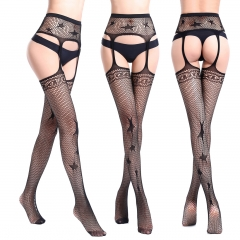 2 Pack Womens Fishnet Tights Suspender Pantyhose Stretchy Stockings Black 6061 One size