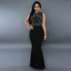2018 Black Evening Dress  Long Prom Gowns Formal Women Dresses Sexy Cut Out Design Mermaid s black