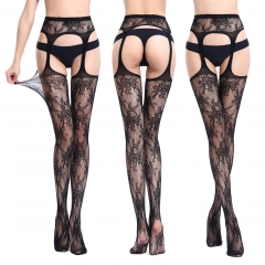 Womens Fishnet Tights Suspender Pantyhose Stretchy Stockings Black 6060 one size