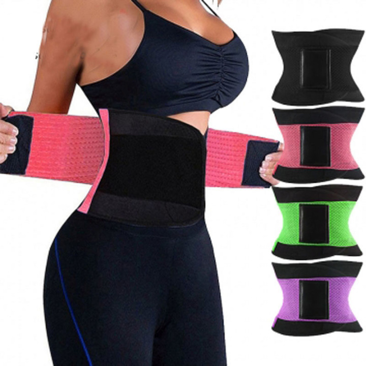 Women's Waist Trainer Body Shaper Workout Waist Cincher Belt Sport Trimmer Girdle Shaperwear black S(fit S-M)
