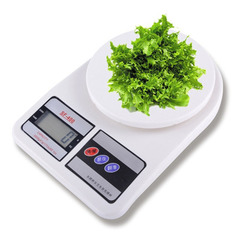 10kg/1g Kitchen Precise Digital Electronic Scales LCD Display for Postal Parcel Food Weight Diet White One size