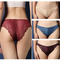 4 pack Women Panties Underwear Hipster Panties Sexy Lace Briefs blue+purple+nude+wine red one size
