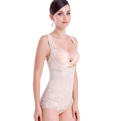 Lace Bodysuit Sculpting Shapewear Full Body Control Corset Slimming Abdomen Lift Bras Shaper nude s